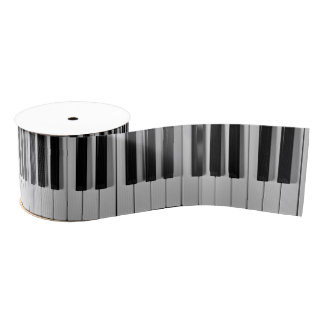 Piano Keyboard Custom Ribbon Grosgrain Ribbon