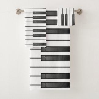 Piano Keyboard Design Bath Towel Set