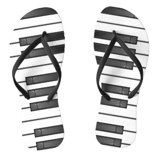 Piano Keyboard Design Flip Flops