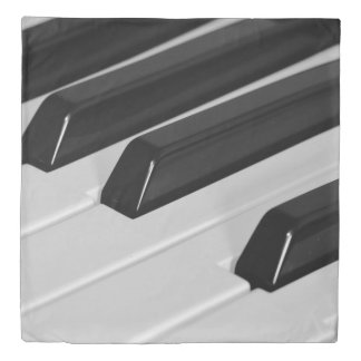 Piano keyboard duvet cover