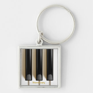 "Piano Keyboard ""Key"" Chain Keychain"