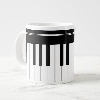 Piano keyboard large coffee mug