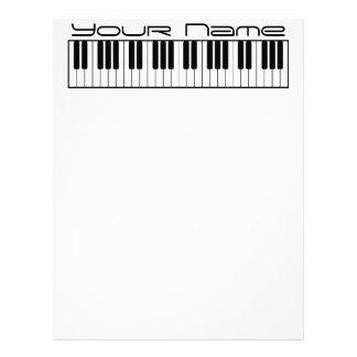 Piano Keyboard Letterhead Stationary