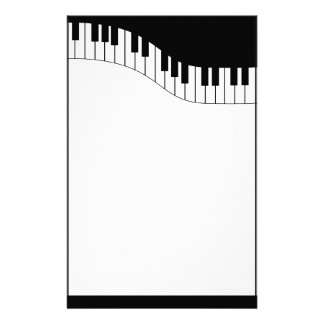 Piano Keyboard Music Stationery