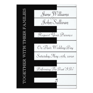 Piano Keyboard Music Wedding Invitation