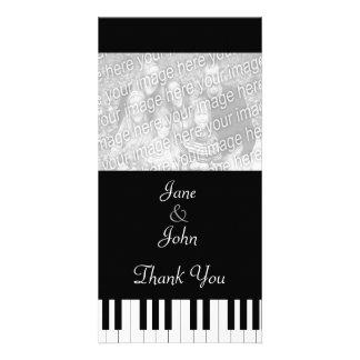 Piano Keyboard Music Wedding Photo Thank You Customized Photo Card