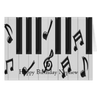 Piano Keyboard Nephew Birthday Card