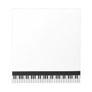 Piano Keyboard Notepad