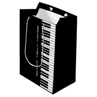 Piano Keyboard Organ Medium Gift Bag