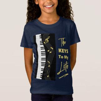 Piano Keyboard Players Fun Music Notes Graphic T-Shirt