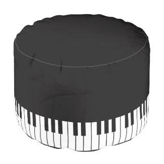 Piano Keyboard Pouf