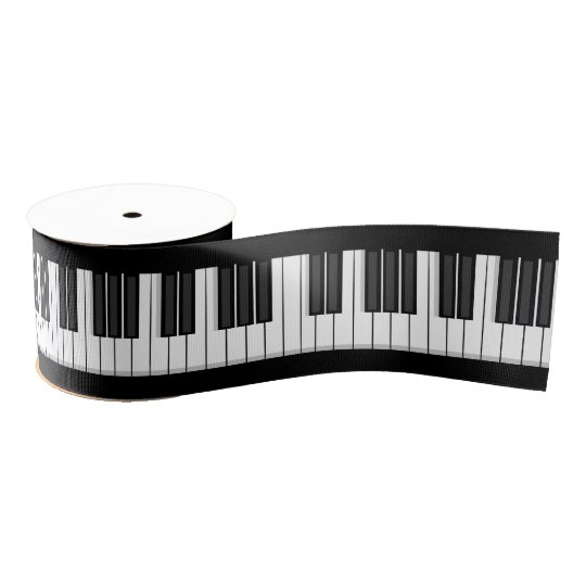 Piano Keyboard Ribbon Grosgrain Ribbon