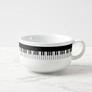 Piano Keyboard Soup Mug