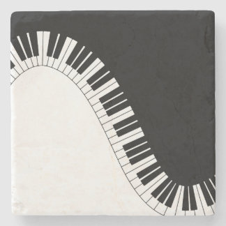 Piano Keyboard Stone Coaster
