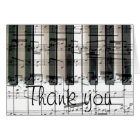piano keyboard thank you card