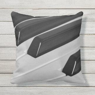 Piano keyboard throw pillow