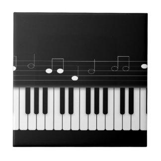 Piano keyboard tile