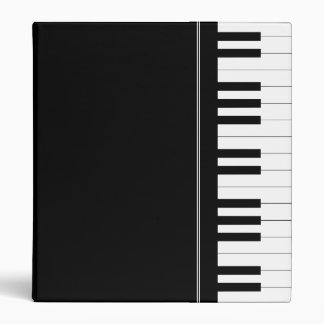 Piano keyboard vinyl binders