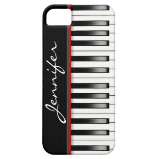 Piano Keyboard with name iPhone 5 Cases