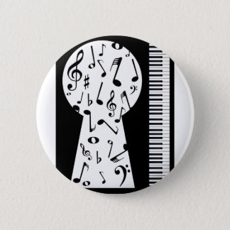 Piano Keyhole 2 Inch Round Button