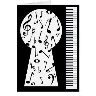 Piano Keyhole Card