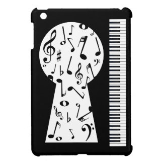 Piano Keyhole iPad Mini Cases