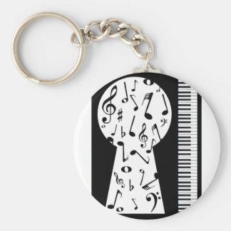 Piano Keyhole Keychain