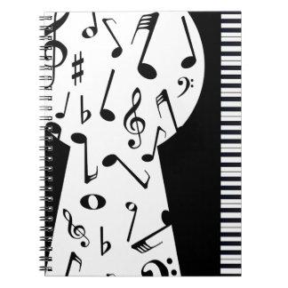 Piano Keyhole Notebooks