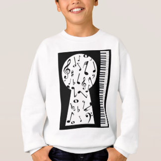 Piano Keyhole Sweatshirt