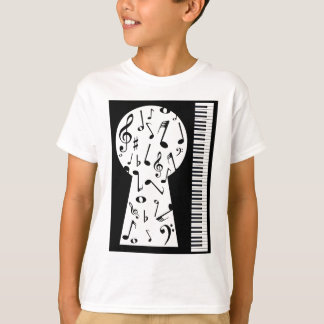 Piano Keyhole T-Shirt