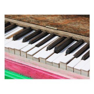 Piano Keys 2 Postcard