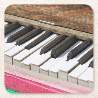 Piano Keys 2 Square Paper Coaster