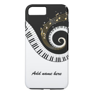 Piano Keys and Gold Music Notes iPhone 7 Plus Case
