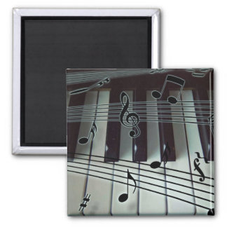 Piano Keys and Music Notes Magnet