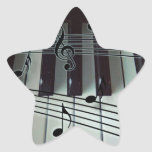 Piano Keys and Music Notes Stickers