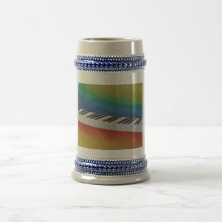 Piano Keys Beer Stein