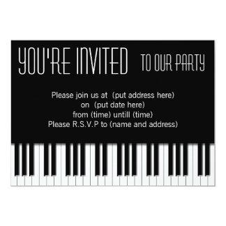 Piano Keys black white Card