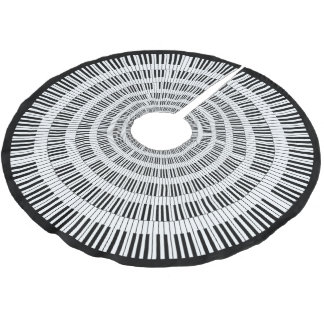 Piano Keys Brushed Polyester Tree Skirt