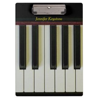 Piano Keys Customizable Name Clipboard