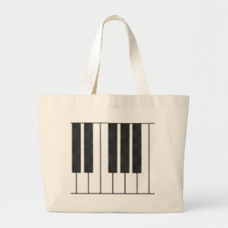 Piano Keys in the Key of Me! Large Tote Bag