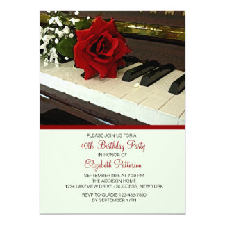 "Piano Keys Invitation 5"" X 7"" Invitation Card"