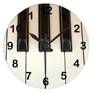 Piano Keys Large Clock