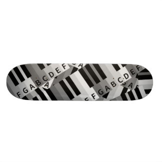 Piano Keys Layered Pattern Skate Board Decks