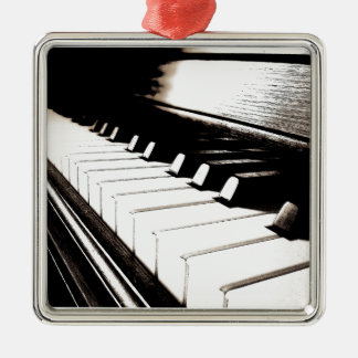 Piano Keys Macro Metal Ornament