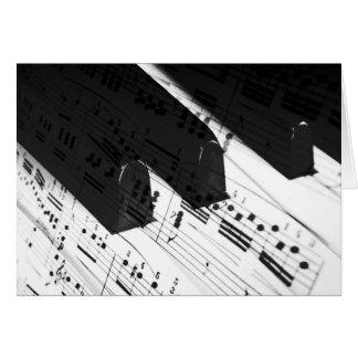Piano Keys&Notes Blank Greeting/Note Card