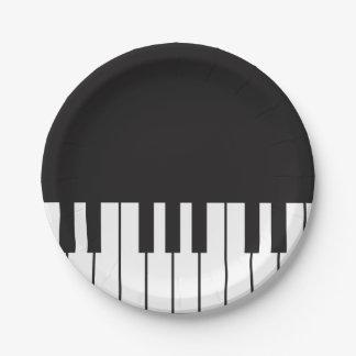 Piano Keys Paper Plates