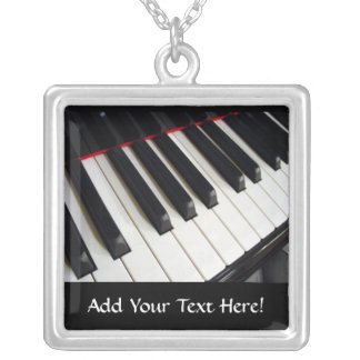 Piano Keys Personalized Music Necklace
