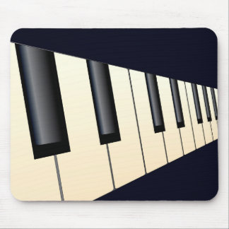 Piano Keys Perspective Mouse Pad