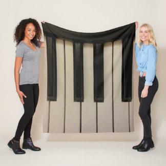 Piano Keys Photo Design Fun Fleece Blanket