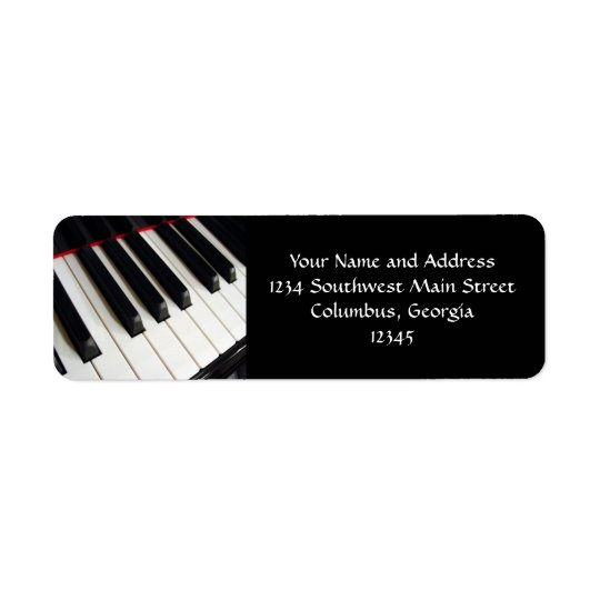 Piano Keys Photograph Return Address Label